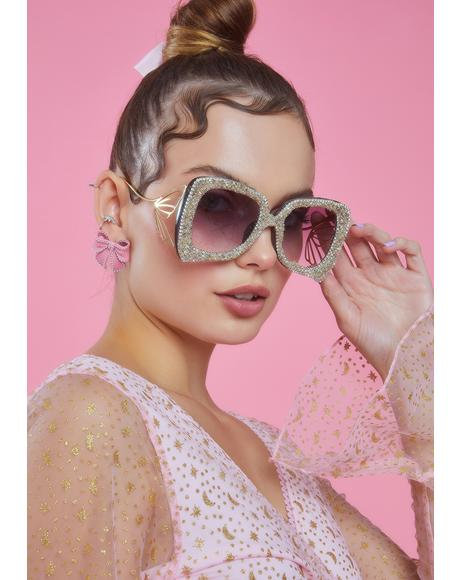 Flutter Queen Glitter Sunglasses