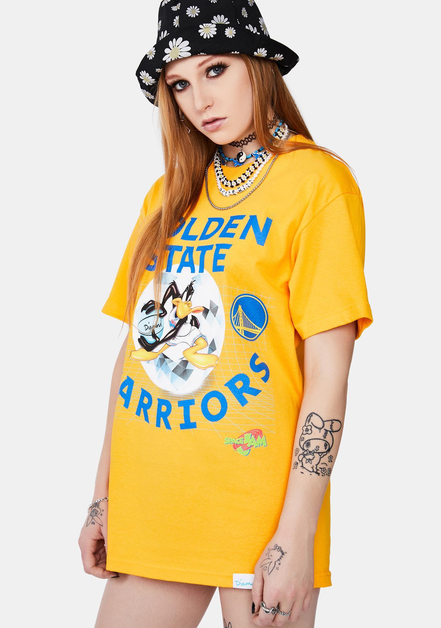 Diamond Supply Co NBA X Space Jam Golden State Warriors Graphic Tee