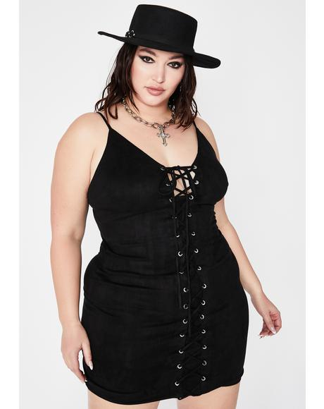Lux Hectic Heathen Lace Up Dress