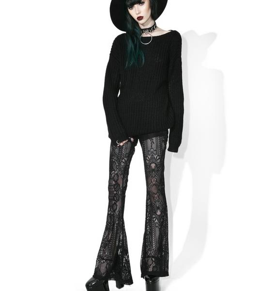 Killstar Bella Morte Bell Bottoms