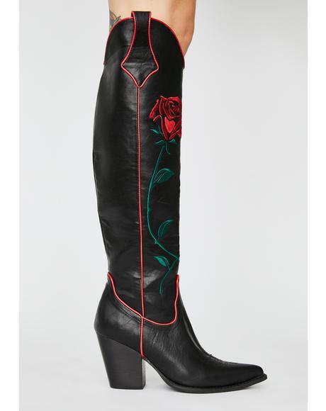 Desert Rose Cowboy Boots