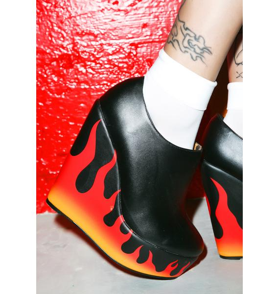 Iron Fist Fire Sign Wedges