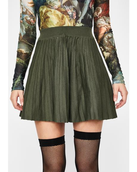 Reckless Reign Pleated Skirt