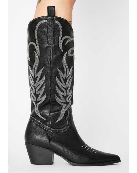 Rodeo Knee High Boots