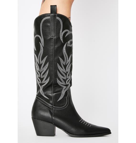 Public Desire Rodeo Knee High Boots