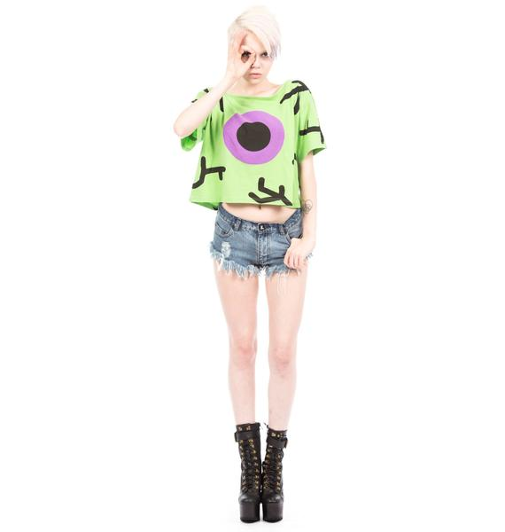 Lazy Oaf Alien Eye Crop Tee