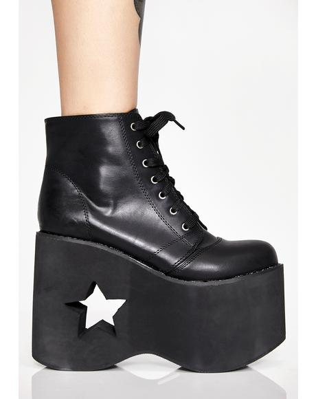 Dark Galactic Dreamer Platform Boots