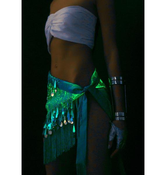 Rave Nation Sky Fiber Optic Light Up Hip Scarf