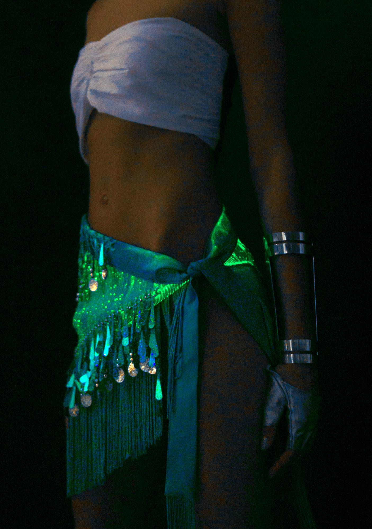 Rave Nation Sky Fiber Optic Light Up Hip Scarf