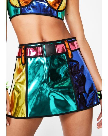 Rainbow Runner Mini Skirt