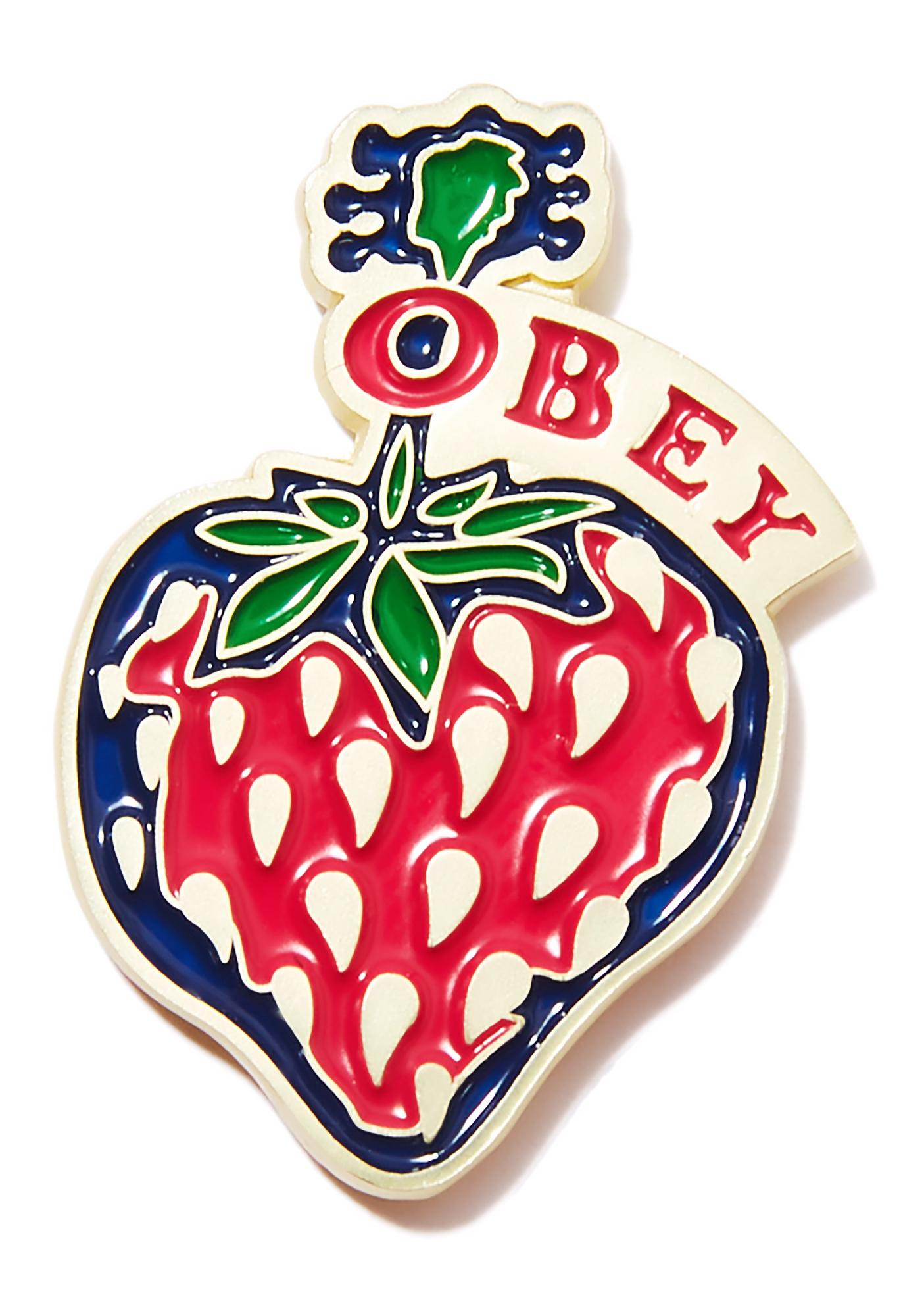 Obey Strawberry Pin
