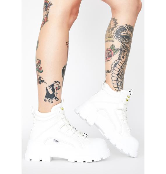 Buffalo White Panthera Mid Boots