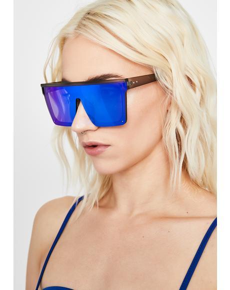 Royal Trinity Emblem Shield Sunglasses