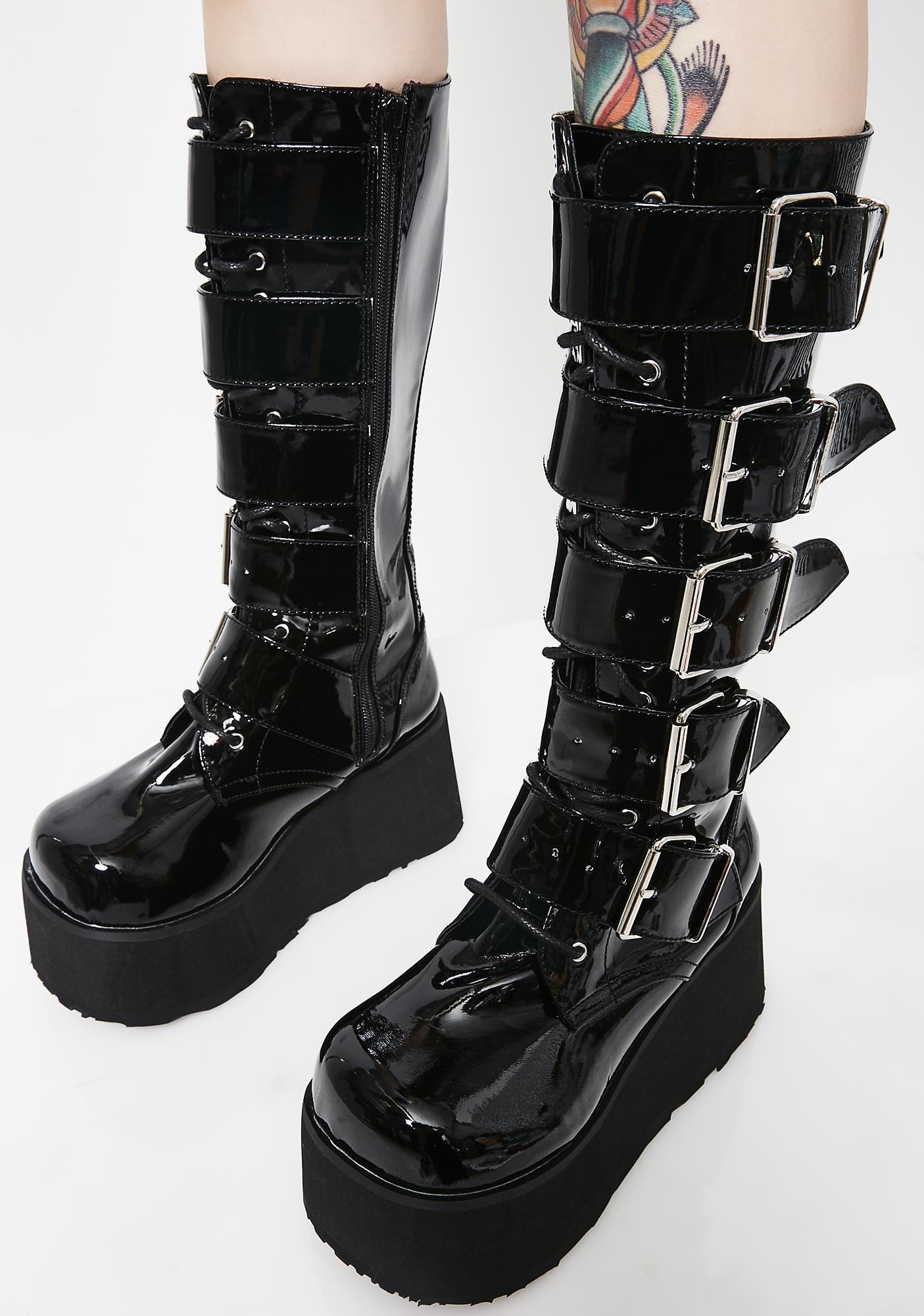 Demonia Trashville Knee High Boots
