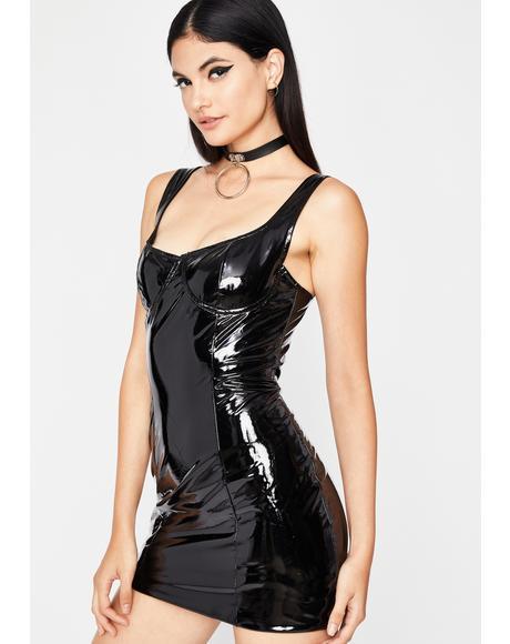 Mistress Domme Vinyl Dress