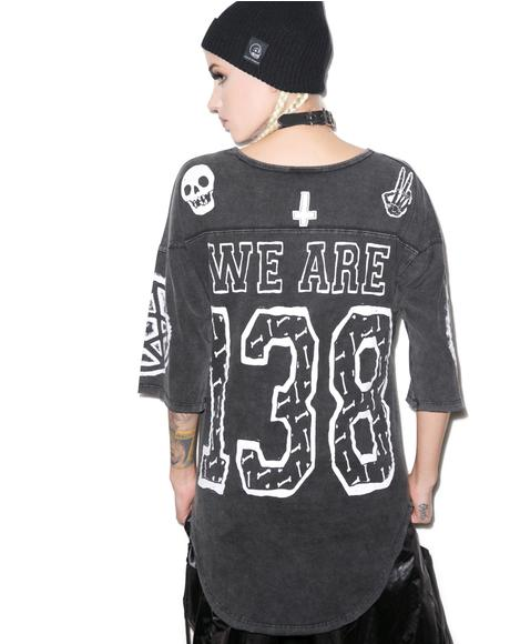 We Are 138 Savage Football Top