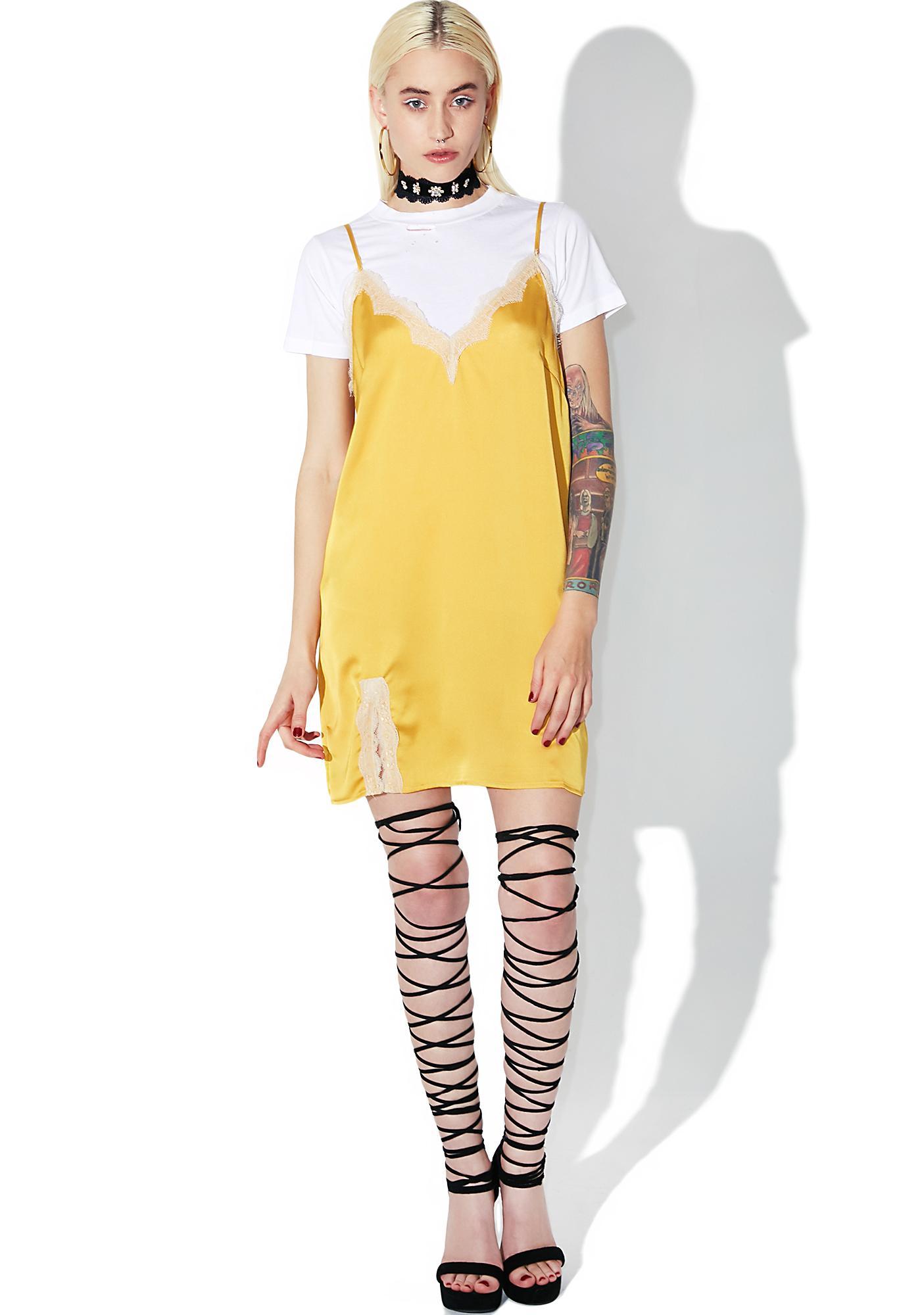 Slow Like Honey Slip Dress