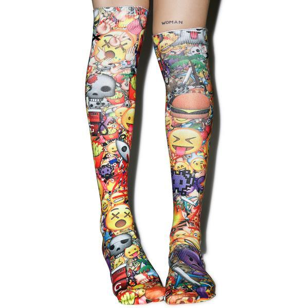 Odd Sox Emoji 3D Knee High Socks