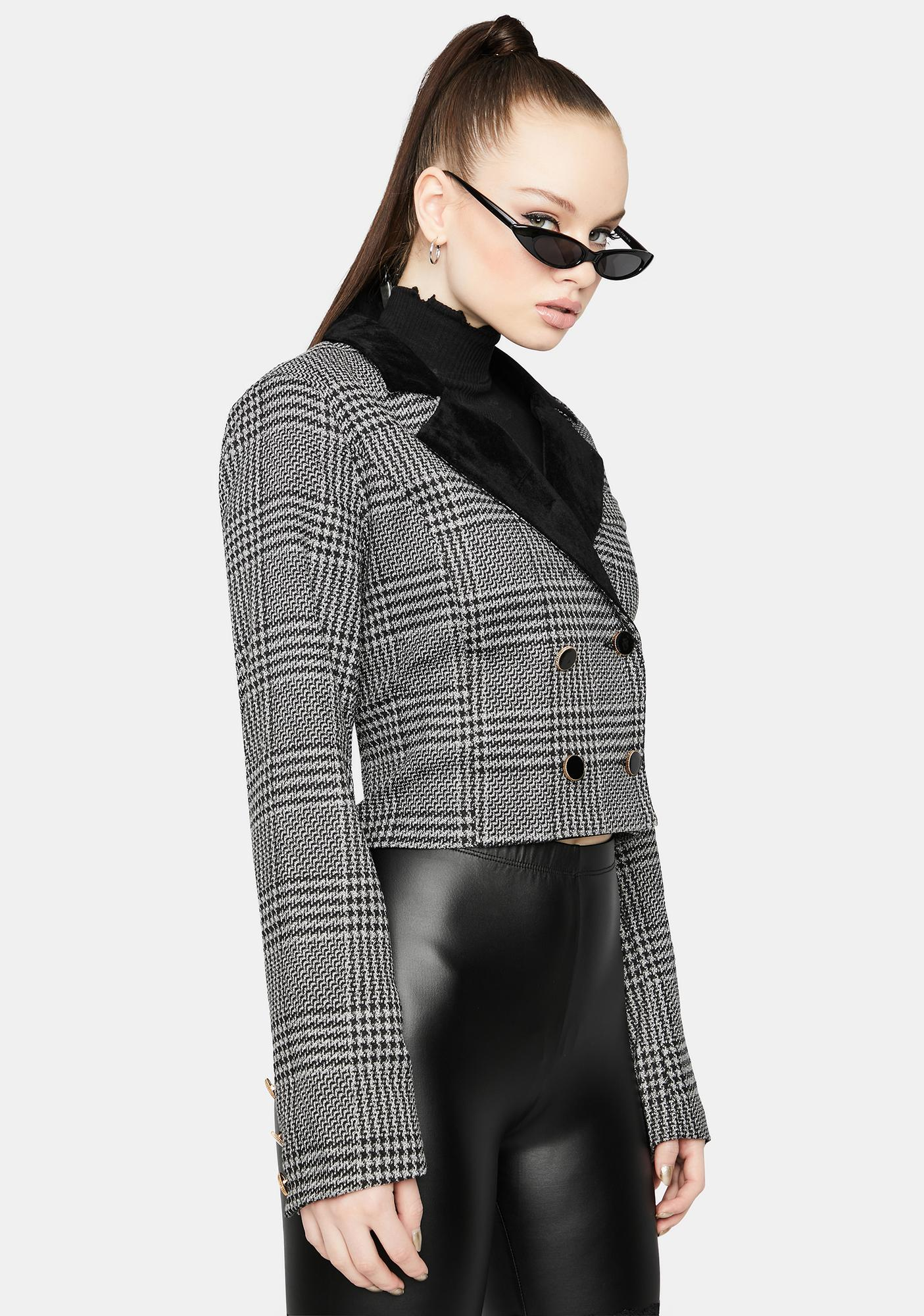Bossy Moves Plaid Blazer