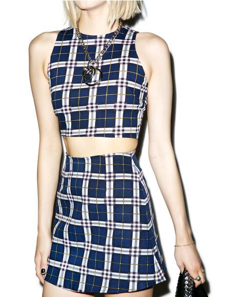 Plaid Annie A-Line Skirt