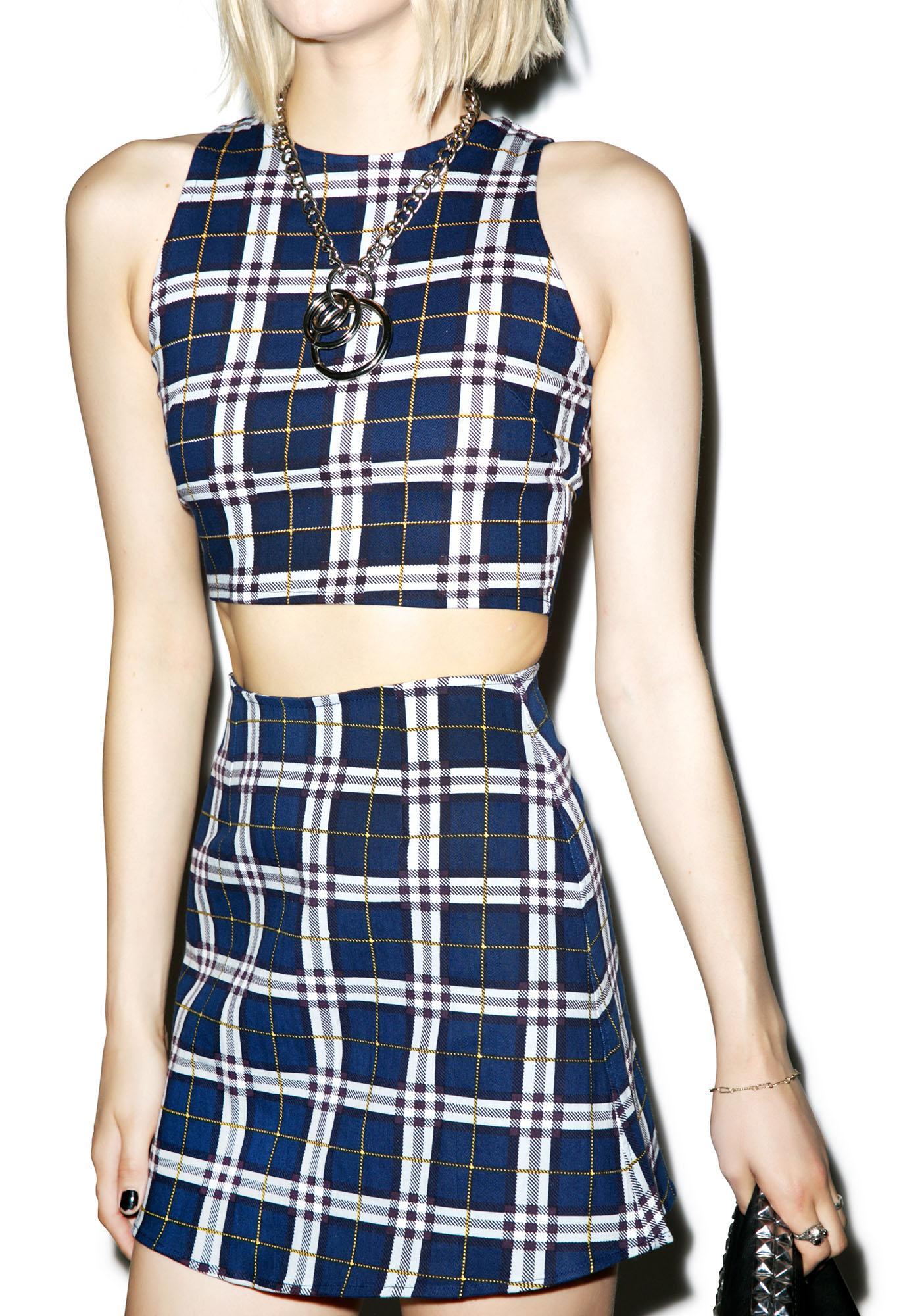 Motel Plaid Annie A-Line Skirt | Dolls Kill