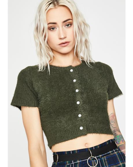 Gone Forever Crop Sweater
