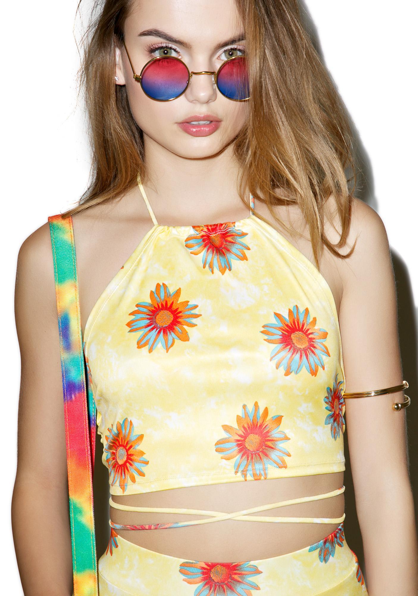 Sunny Dayz Halter Crop Top