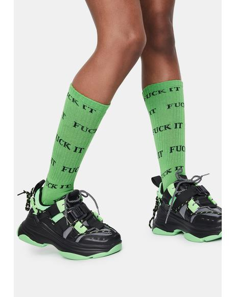 Green Eff It Socks