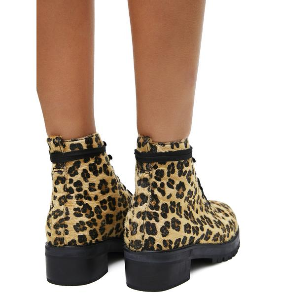 Current Mood Ready To Pounce Leopard Boots