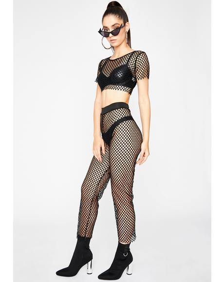 Blackout Danger Signal Fishnet Set