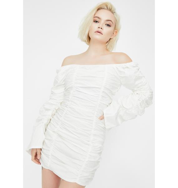 Public Desire Bardot Ruched Mini Dress