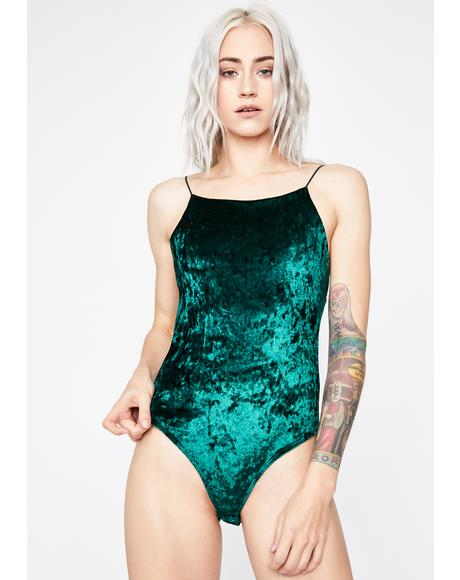 Emerald All About U Velvet Bodysuit