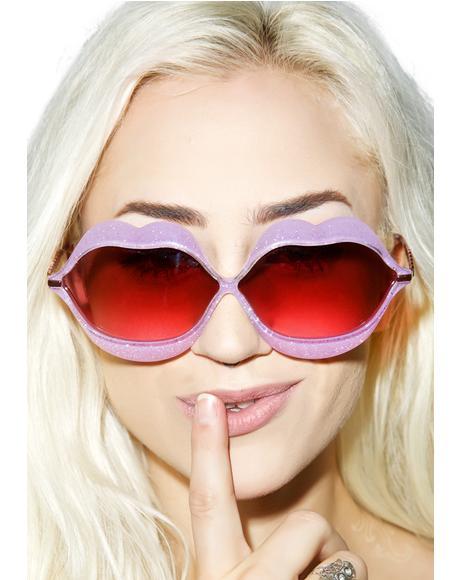 Glitter Lip Service Sunglasses