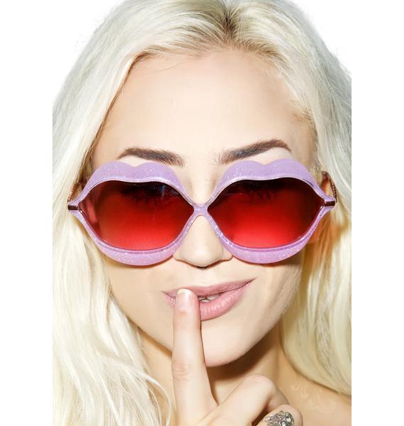 Wildfox Couture Glitter Lip Service Sunglasses