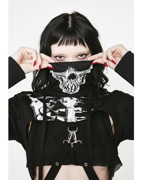 Dead Girl Superstar Cropped Hoodie