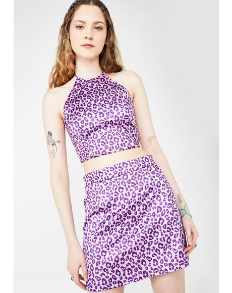 Township Rebel Leopard Skirt