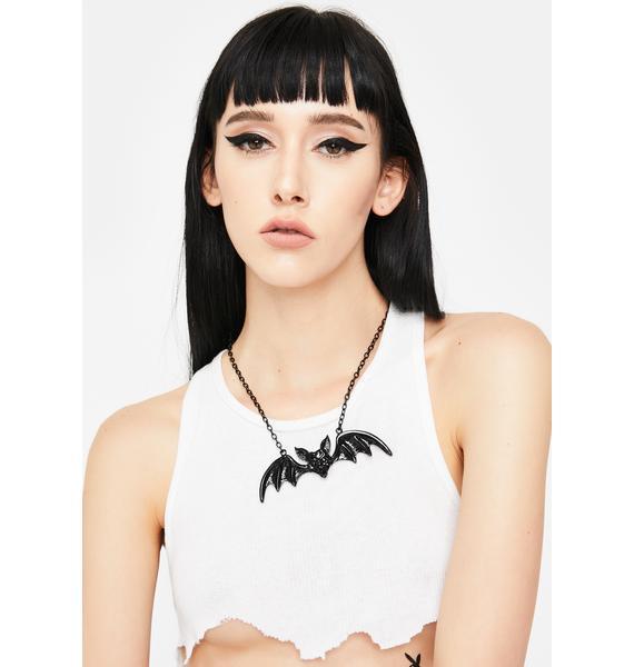 Rock Rebel Bat Pendant Necklace