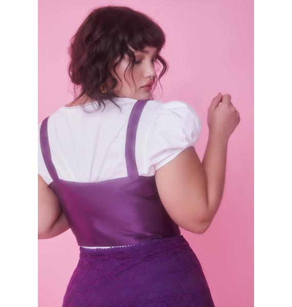 Sugar Thrillz Lil Lilac My Beloved Underbust Corset Top