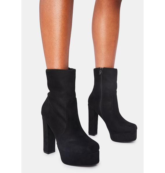 Suede Own The Stage Platform Booties