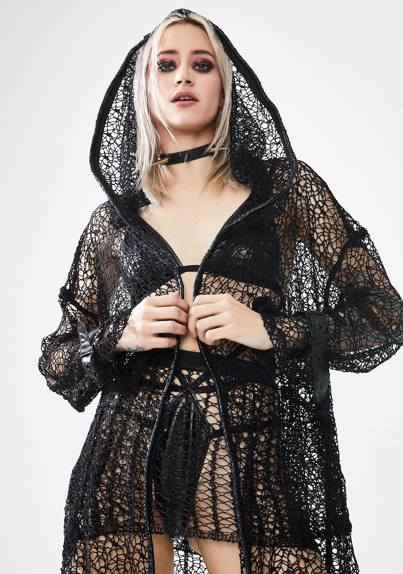 Punk Rave The Night Canyue Net Coat