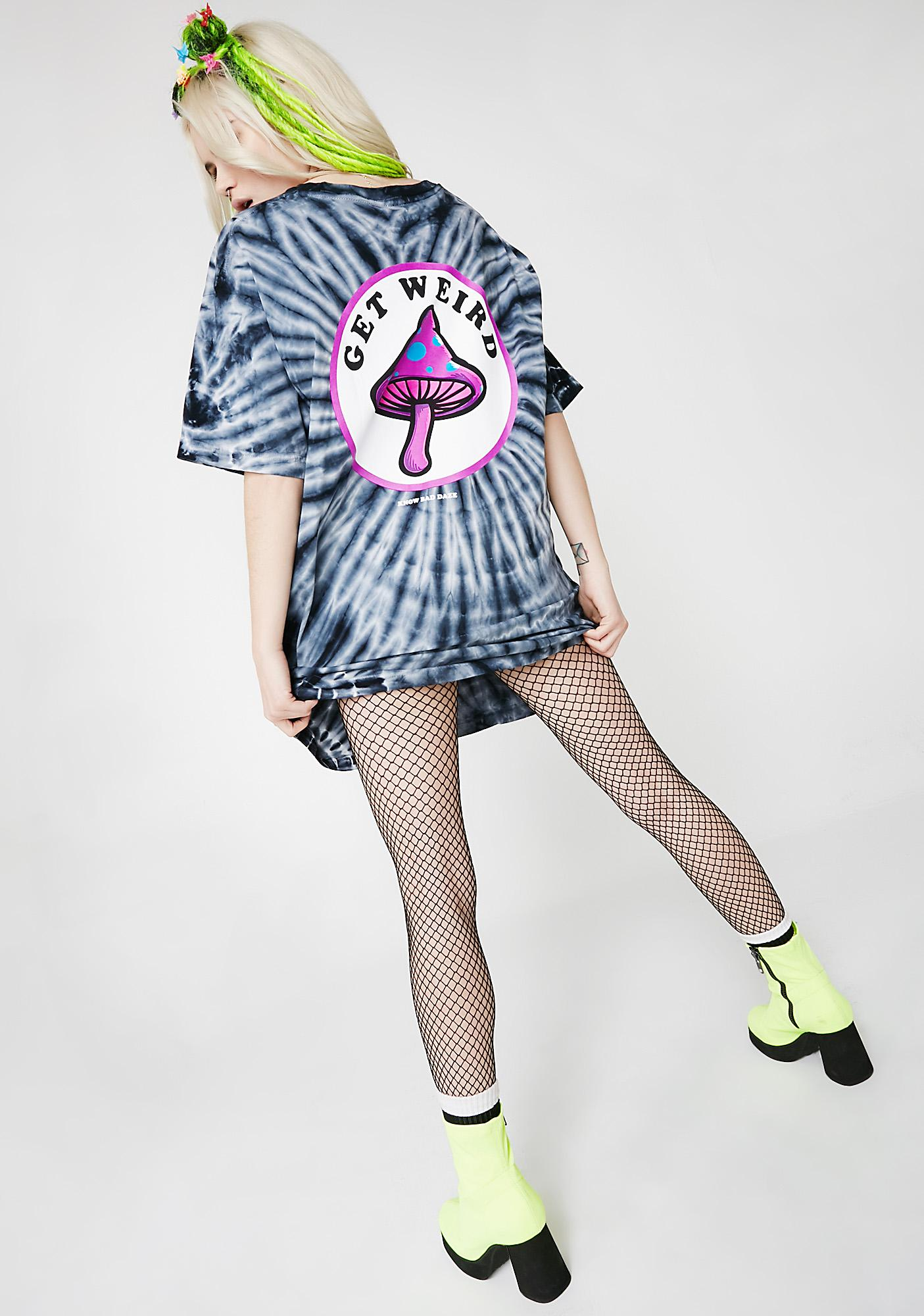 Know Bad Daze Get Weird Tie-Dye Tee