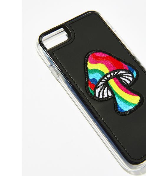Zero Gravity Shroom Embroidered iPhone Case