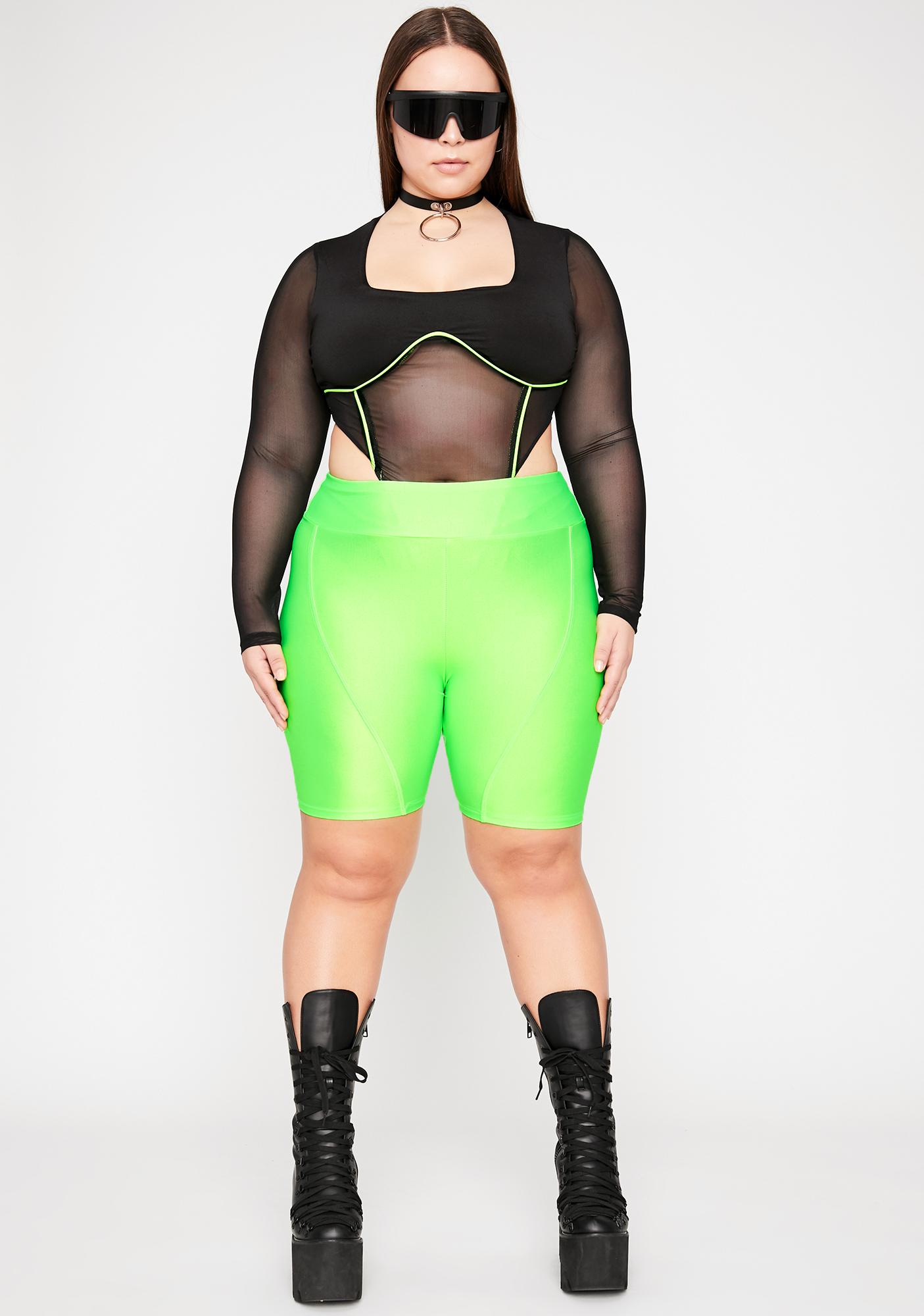 Sinna Gotta Hit The Club Mesh Bodysuit
