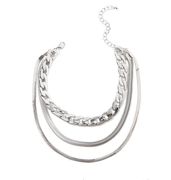 Hard Knocks Layered Necklace