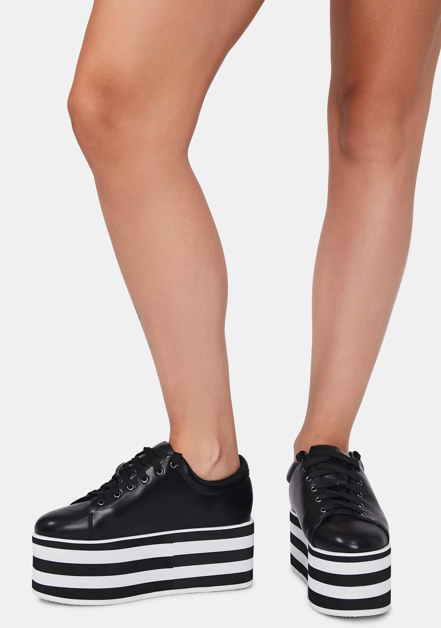 Count Your Stripes Platform Sneakers