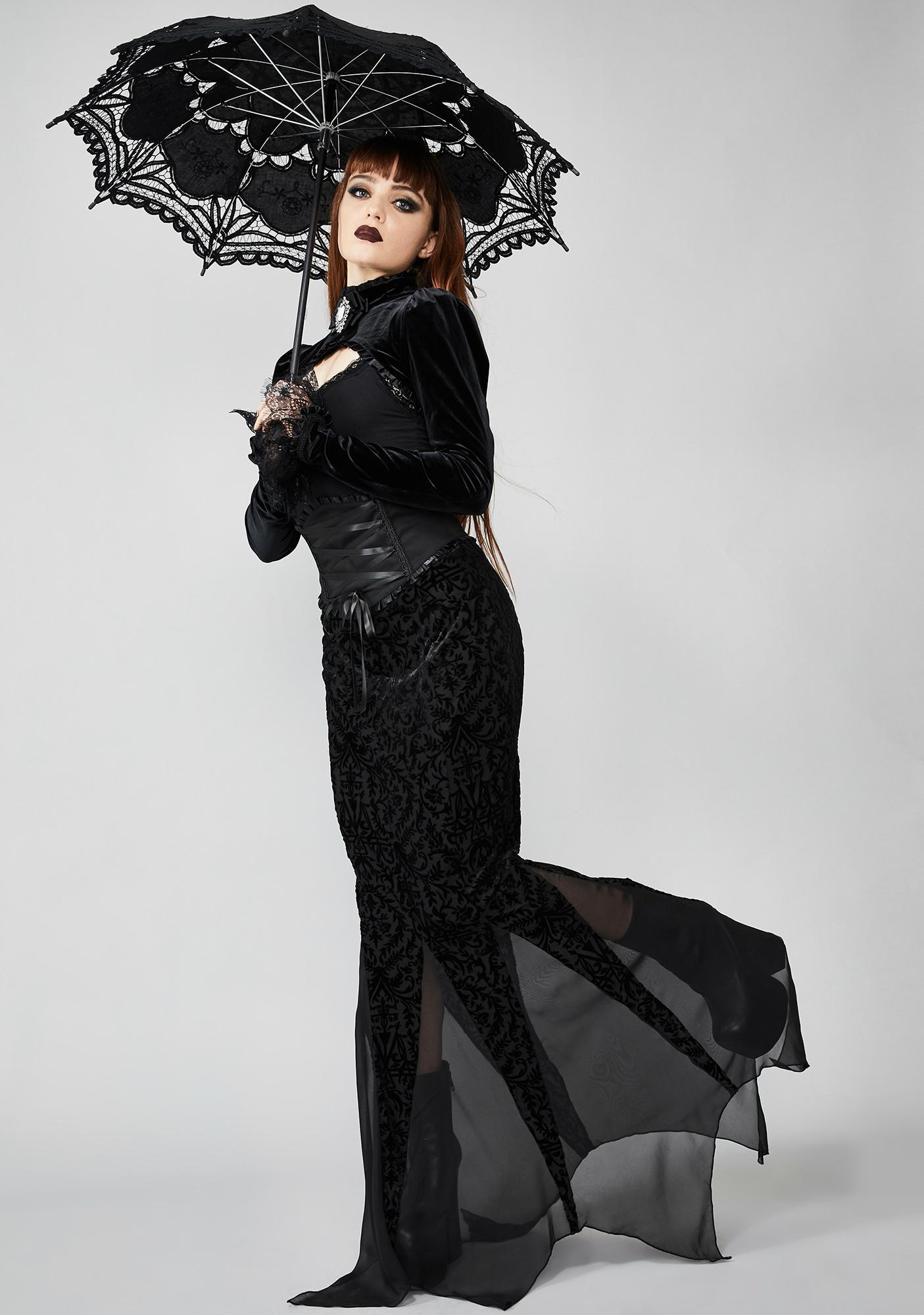 Widow Haunted Wonderland Maxi Skirt