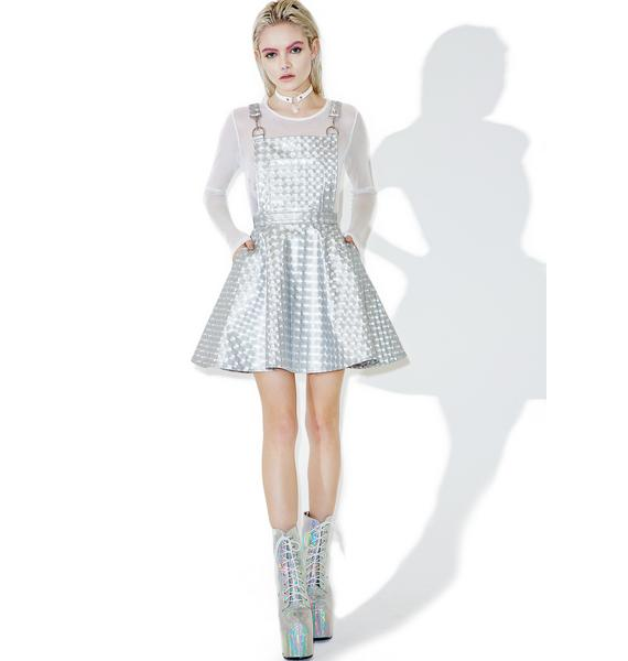 Club Exx Hyperion Hologram Overall Dress