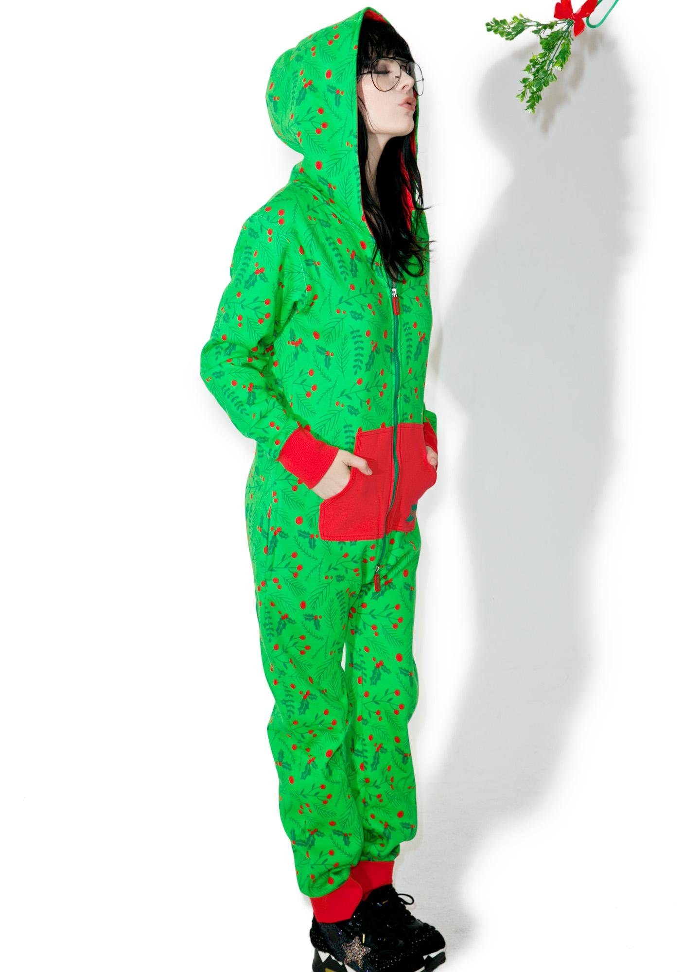Tipsy Elves Mistletoe Jumpsuit