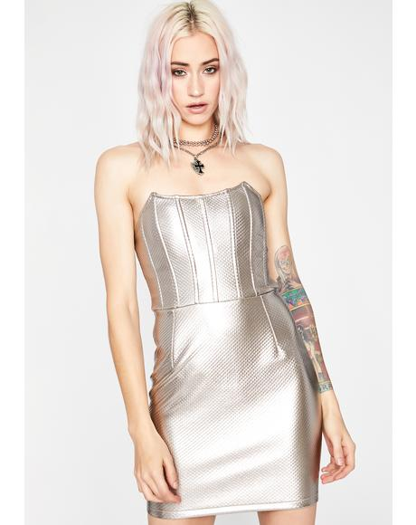 Chrome Livin' On A Prayer Mini Dress