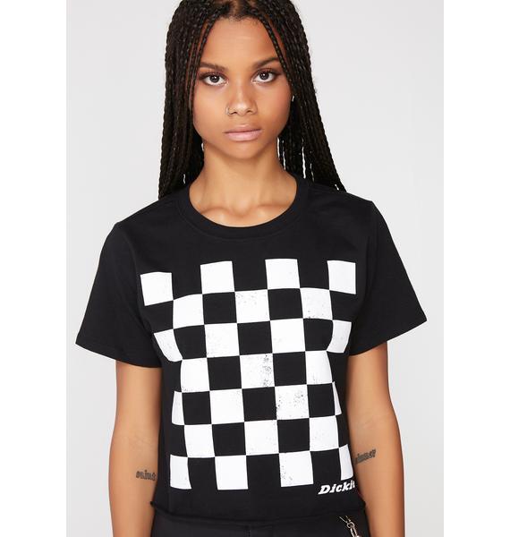 Dickies Girl Checkered Crop Tee